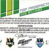 2012 NRL Dynasty Top Prospects Signature TPS3 Sam Williams Raiders #119/300