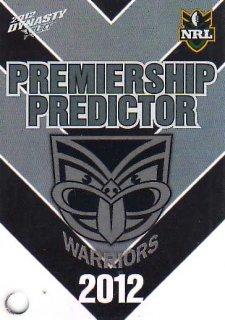 2012 NRL Dynasty Top Try Scorer #TT15 Vatuvei / Hurrell / Johnson Warriors with Redeemed Predictor