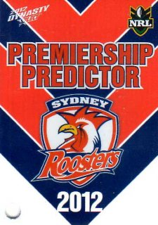 2012 NRL Dynasty Top Try Scorer #TT14 Pearce Roosters with Redeemed Predictor