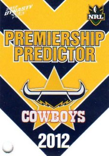 2012 NRL Dynasty Top Try Scorer #TT9 Ashley Graham Cowboys with Redeemed Predictor