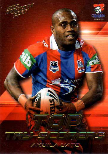 2012 NRL Dynasty Top Try Scorer #TT8 Akuila Uate Knights with Redeemed Predictor