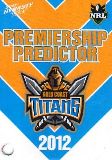 2012 NRL Dynasty Top Try Scorer #TT5 Mead / Gordon Titans with Redeemed Predictor