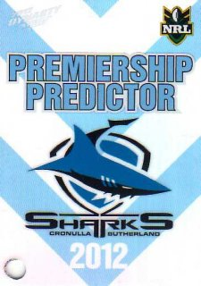2012 NRL Dynasty Top Try Scorer #TT4 Ben Pomeroy Sharks with Redeemed Predictor