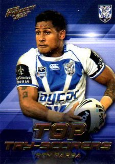 2012 NRL Dynasty Top Try Scorer #TT3 Ben Barba Bulldogs with Redeemed Predictor