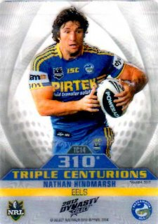 2012 NRL Dynasty Award Winner #TC14 Nathan Hindmarsh Eels