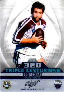 2012 NRL Dynasty Triple Centurions #TC11 Geoff Gerard Panthers