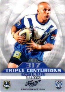 2012 NRL Dynasty Triple Centurions #TC12 Hazem El Masri Bulldogs