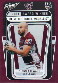 2012 NRL Dynasty Award Winner #AW6 Glenn Stewart Sea Eagles