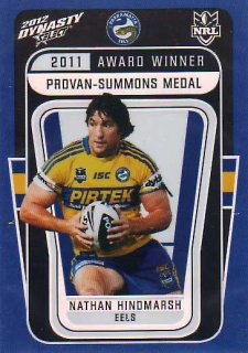2012 NRL Dynasty Award Winner #AW2 Nathan Hindmarsh Eels