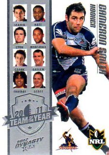 2012 NRL Dynasty TOTY #TY9 Cameron Smith Storm