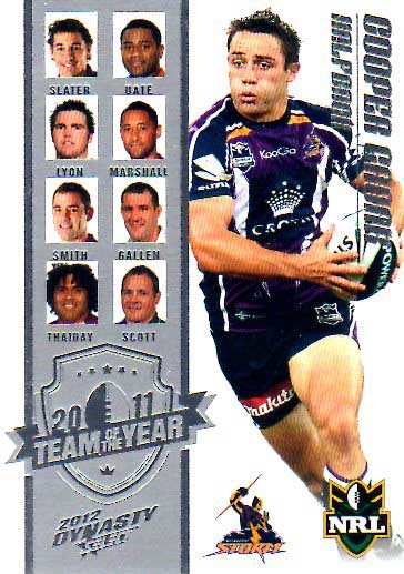 2012 NRL Dynasty TOTY #TY5 Cooper Cronk Storm
