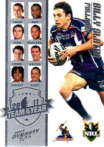 2012 NRL Dynasty TOTY #TY1 Billy Slater Storm