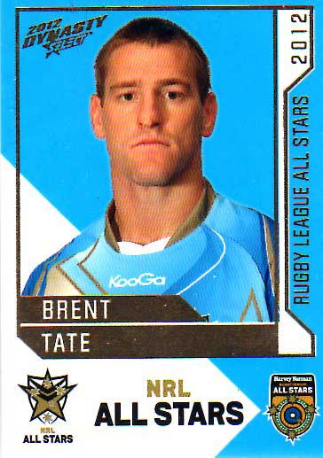 2012 NRL Dynasty All Stars #AS38 Brent Tate Cowboys