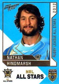 2012 NRL Dynasty All Stars #AS31 Nathan Hindmarsh Eels