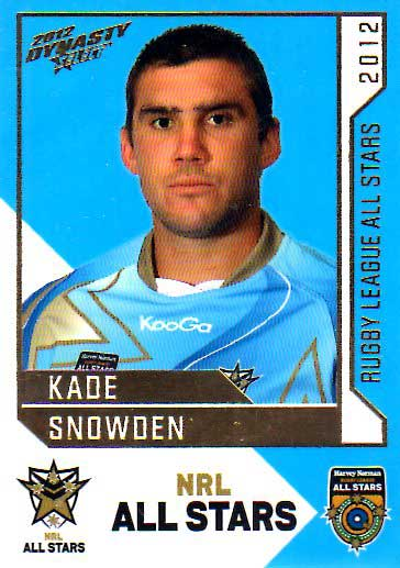2012 NRL Dynasty All Stars #AS28 Kade Snowden Knights