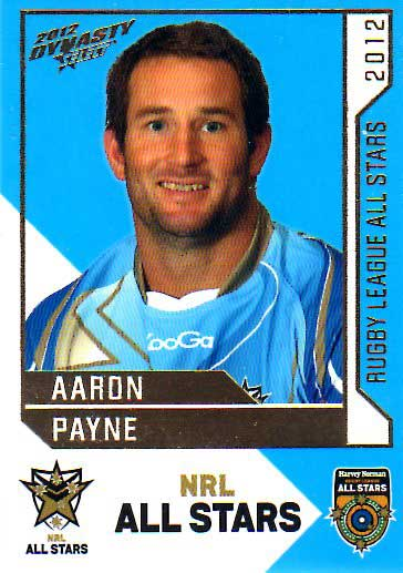 2012 NRL Dynasty All Stars #AS29 Aaron Payne Cowboys