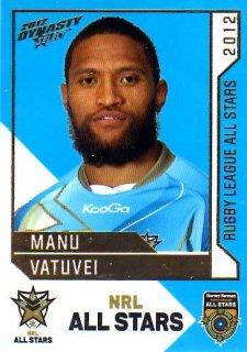 2012 NRL Dynasty All Stars #AS25 Manu Vatuvei Warriors