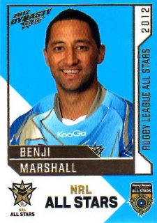 2012 NRL Dynasty All Stars #AS26 Benji Marshall Tigers