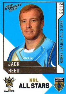 2012 NRL Dynasty All Stars #AS23 Jack Reed Broncos