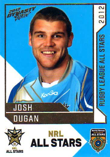 2012 NRL Dynasty All Stars #AS21 Josh Dugan Raiders