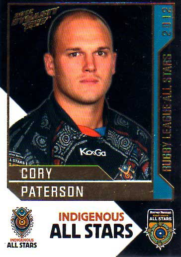 2012 NRL Dynasty All Stars #AS15 Cory Paterson Cowboys