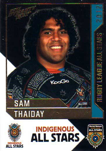 2012 NRL Dynasty All Stars #AS11 Sam Thaiday Broncos
