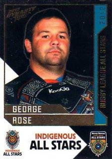 2012 NRL Dynasty All Stars #AS10 George Rose Sea Eagles