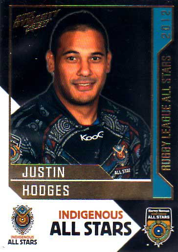2012 NRL Dynasty All Stars #AS4 Justin Hodges Broncos