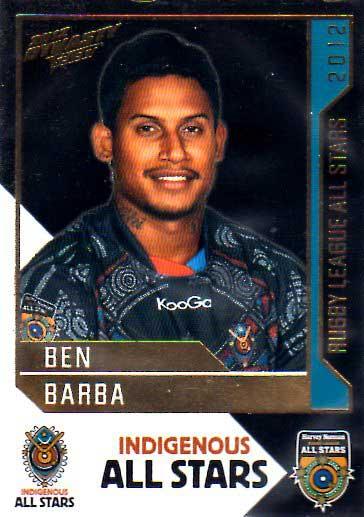 2012 NRL Dynasty All Stars #AS1 Ben Barba Bulldogs