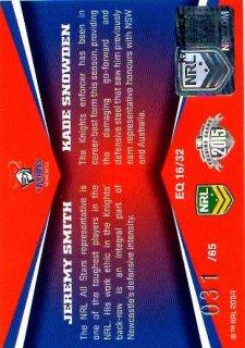 2015 NRL Elite Quads #EQ16 Kade Snowden / Jeremy Smith Knights #31/65