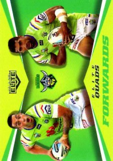 2015 NRL Elite Quads #EQ4 Iosia Soliola / Paul Vaughan Raiders #13/65