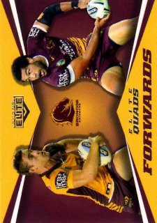 2015 NRL Elite Quads #EQ2 Adam Blair / Andrew McCullough Broncos #6/65