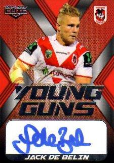2015 NRL Elite Young Gun Signature #YGS13 Jack De Belin Dragons #83/130