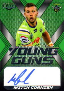 2015 NRL Elite Young Gun Signature #YGS2 Mitch Cornish Raiders #72/130