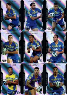 2014 NRL Elite 9-Card Silver Parallel Team Set Parramatta Eels