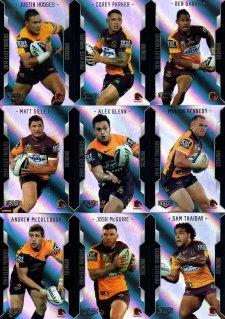 2014 NRL Elite 9-Card Silver Parallel Team Set Brisbane Broncos