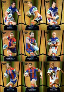 2015 NRL Elite 9-Card Gold Parallel Team Set Newcastle Knights