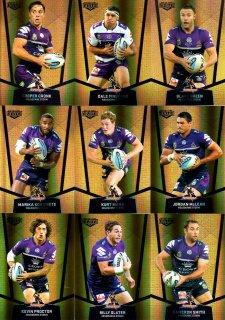 2015 NRL Elite 9-Card Gold Parallel Team Set Melbourne Storm