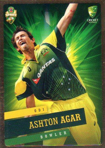 2015/16 CA & BBL Cricket Gold Parallel #PS16 Ashton Agar Australian ODI