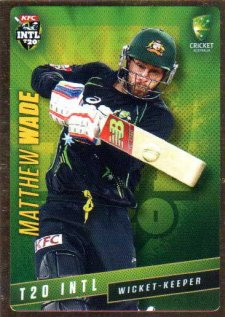2015/16 CA & BBL Cricket Gold Parallel #PS43 Matthew Wade Australian T20