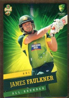 2015/16 CA & BBL Cricket Gold Parallel #PS19 James Faulkner Australian ODI