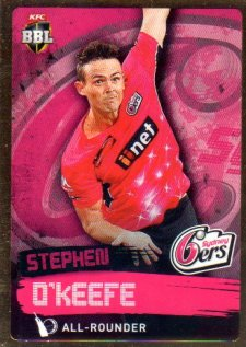 2015/16 CA & BBL Cricket Gold Parallel #PS162 Stephen O'Keefe Sixers