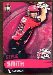 2015/16 CA & BBL Cricket Gold Parallel #PS164 Steve Smith Sixers