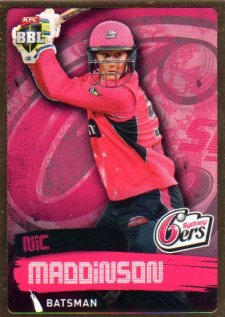 2015/16 CA & BBL Cricket Gold Parallel #PS161 Nic Maddinson Sixers