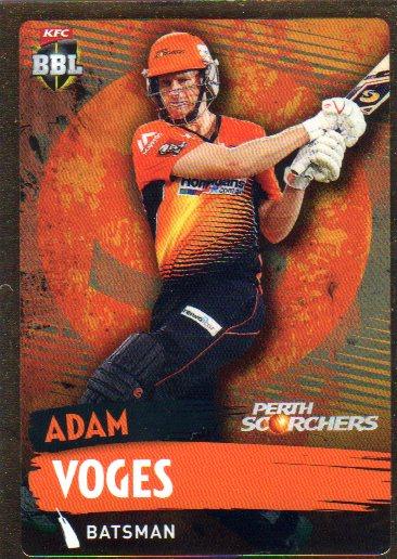2015/16 CA & BBL Cricket Gold Parallel #PS149 Adam Voges Scorchers