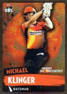 2015/16 CA & BBL Cricket Gold Parallel #PS142 Michael Klinger Scorchers