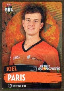 2015/16 CA & BBL Cricket Gold Parallel #PS146 Joel Paris Scorchers