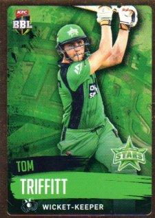 2015/16 CA & BBL Cricket Gold Parallel #PS132 Tom Triffitt Stars