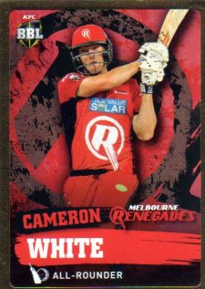 2015/16 CA & BBL Cricket Gold Parallel #PS119 Cameron White Renegades