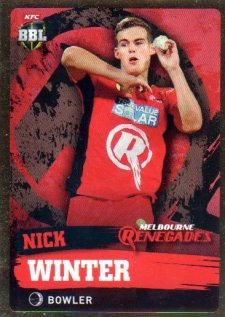 2015/16 CA & BBL Cricket Gold Parallel #PS120 Nick Winter Renegades